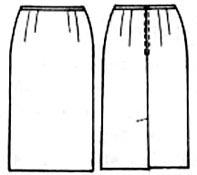 Выкройка узкой юбки со шлицей 230