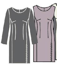 Выкройка платья футляр 348