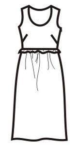 Выкройка летнего платья большого размера 409