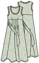 Выкройка платья для полных с завышенной талией 012