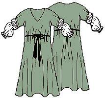 Выкройка летнего платья из трикотажа для полных 021