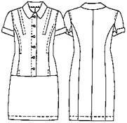 Выкройка платья с коротким рукавом 333