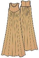Выкройка платья в пол для полных женщин 024