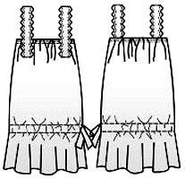 Выкройка сарафана на бретелях 055