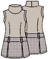 Выкройка платья с мини юбкой 056