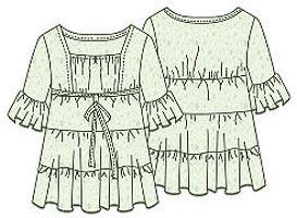Выкройка платья мини с оборками 060