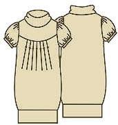 Выкройка платья из трикотажа с короткими рукавами 061