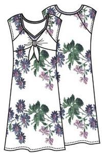 Выкройка приталенного платья из трикотажа 091