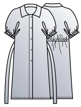 Выкройка пляжного платья халата 106