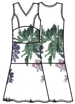 Выкройка летнего шелкового платья 107
