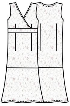 Выкройка платья чуть ниже колен для лета 117