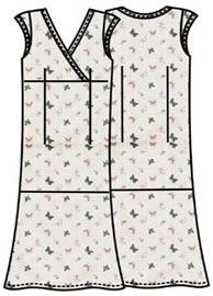 Выкройка длинного платья с рукавами крылышками 121