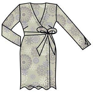 Выкройка платья с запахом 136