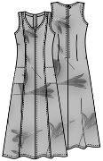 Выкройка платья в пол для полных 155