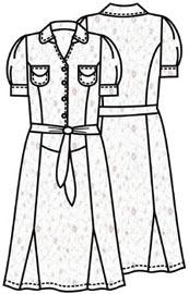 Выкройка платья с юбкой годе 169