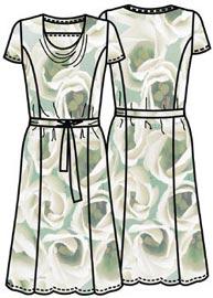 Выкройка платья с драпирующейся горловиной качели 171