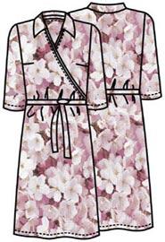 Выкройка трикотажного платья с имитацией запаха 173