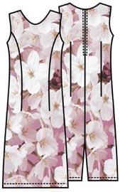Выкройка классического платья простого покроя 188