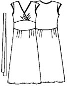 Выкройка платья в пол с маленькими рукавами 195