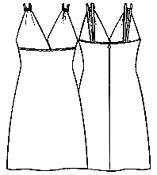 Выкройка платья для коктейля с отрезными чашечками 309