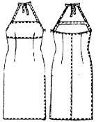 Выкройка приталенного платья с боковым разрезом 310