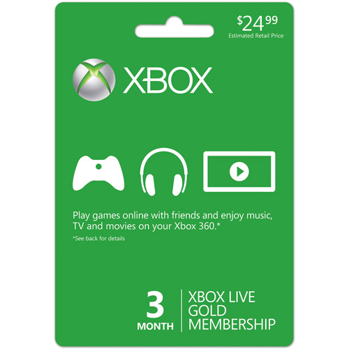 Xbox LIVE 3 Month Gold Membership (USA)