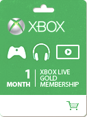 XBOX LIVE Gold Card - 1 month (Region Free) - Photo