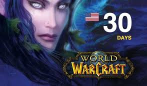 WORLD OF WARCRAFT TIME CARD 30 DAYS USA + NORTH AMERICA
