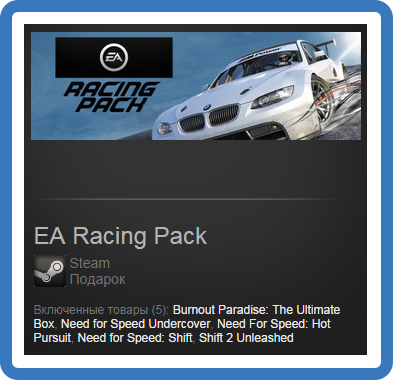 EA Racing Pack (Need for Speed pack) (ROW) - steam gift