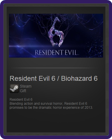 Resident Evil 6 / Biohazard 6 (ROW) - steam gift