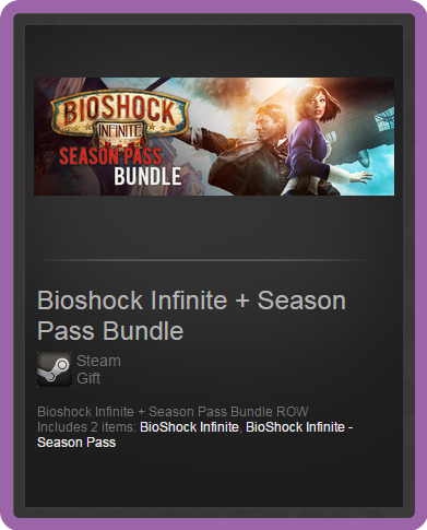 Информация о продавце - Steam GSeller. Bioshock Infinite + Season Pass Bun