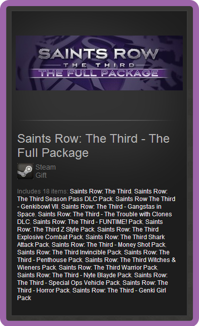 Saints Row: The Third - The Full Package ROW steam gift