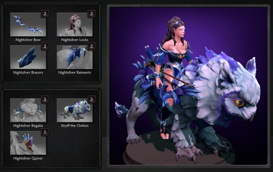 Купить Dota 2 - Garments of the Nightsilver Sentinel [Mirana].