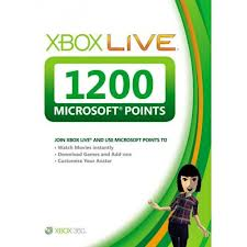 Xbox Live - 1200 MS Points (EUR,RUS) - Скан
