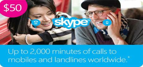 Skype 50 USD Ориг. Ваучер - Актив.на Skype.com