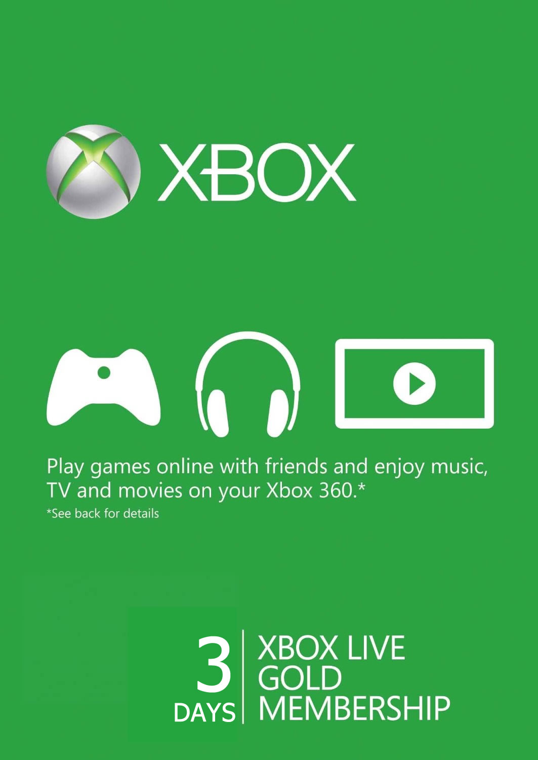 Xbox Live Gold 3-Days Trial Code+СКИДКИ
