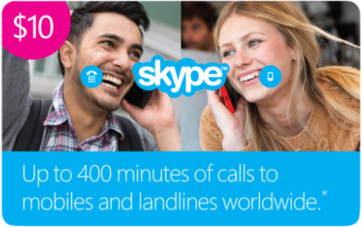 U.S.  Skype.com Gift Card = Оригинальный Ваучер