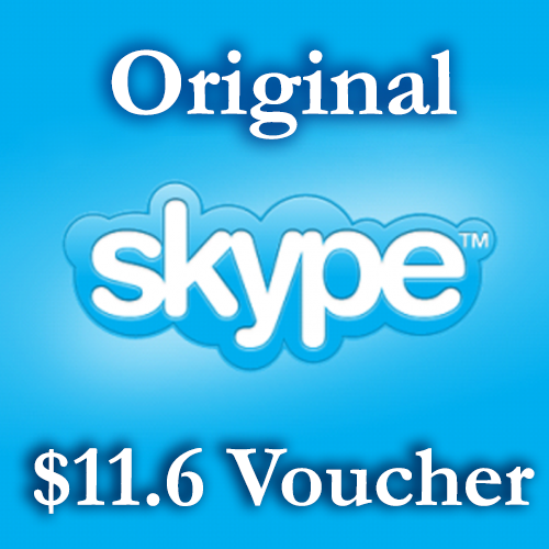 11.6 USD Genuine Card - Skype.com DISCOUNT 16%