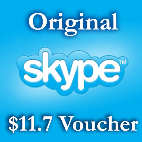 11.7 USD Genuine Card - Skype.com DISCOUNT 8%
