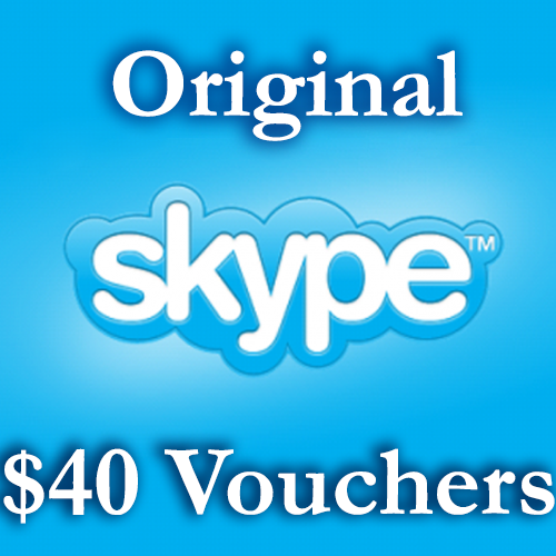 40 USD Genuine Card for Skype.com 4 pcs of 10$ ORIGINAL