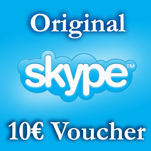 10€ SKYPE  - Voucher Original + Discount 30%