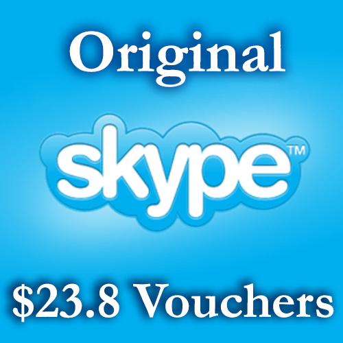 23.8USD Genuine Skype Cards 2*11.9$ DISCOUNT 6%