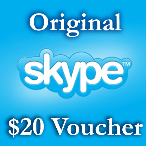 20 USD Genuine Card for Skype.com 2 pcs of 10$ ORIGINAL