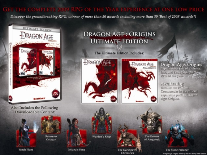 Dragon Age Origins Ultimate Edition +DLC (ORIGIN)REGFRE