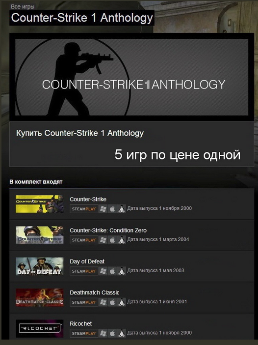 Counter-Strike 1.6 Anthology (Steam Gift / Region Free)