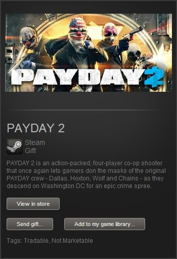 PAYDAY 2 (Steam Gift / Region Free) + Bonus