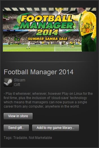 Football Manager 2014 (Steam Gift / Region Free)