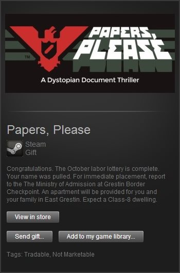 Papers, Please (Steam Gift / Region Free)