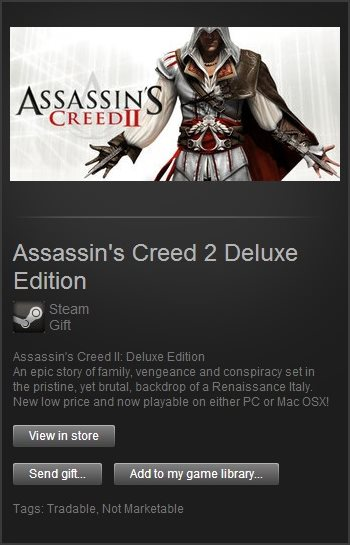 Assassins Creed 2 Deluxe (Steam Gift / Region Free)