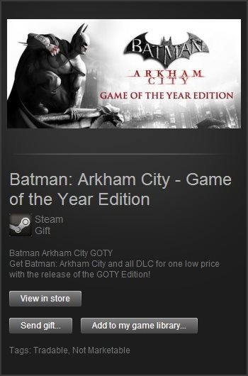 Batman Arkham City GOTY (Steam Gift / Region Free)